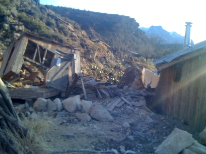 The 2010 Rockfall: another building gone.